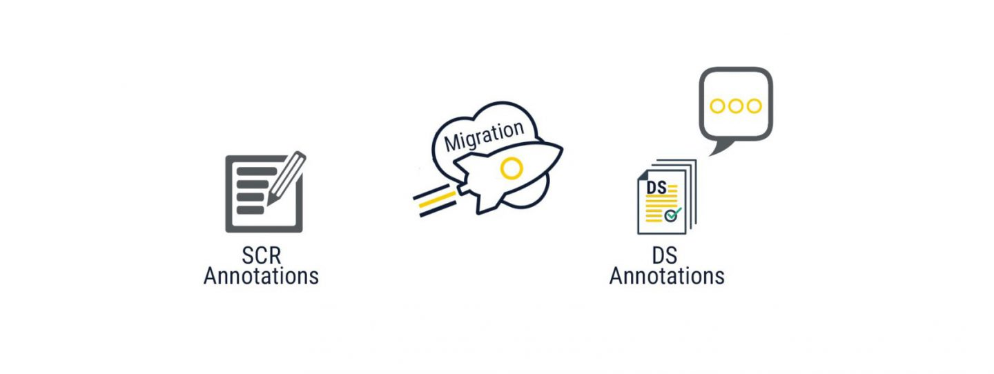 Migration of SCR Annotations to DS Annotations