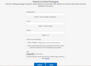 ADX Selective Content Packaging Tool