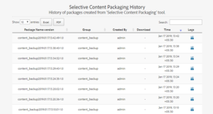 Selective Content Packaging in AEM