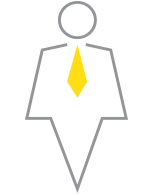 a figure of an individual in a suit wearing a tie representing an AEM consultant