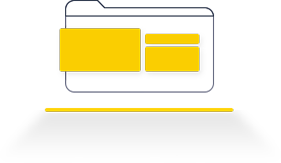 different cards or components of a web application in the vector of a file