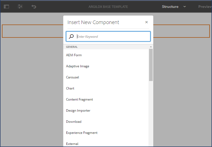 adding selected group of components in the
